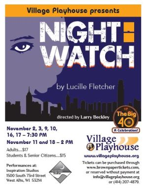 Flyer for Night Watch, November 2 - 18, 2018